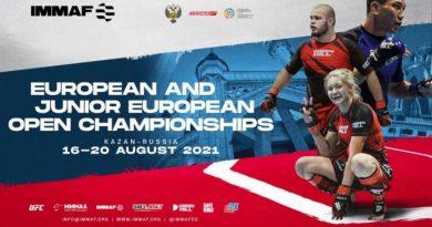 Atleti e nazioni annunciati per IMMAF Euro 2021