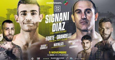 Il 5 novembre la Roma Boxing Night con Signani, Forte e Natalizi